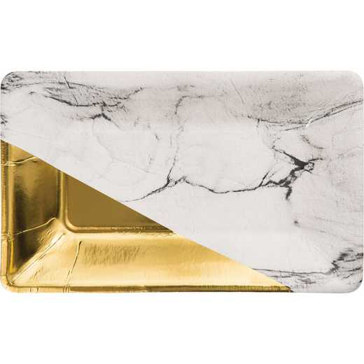 DTC329883APLT: CC Marble and Gold Foil Appetizer Plates